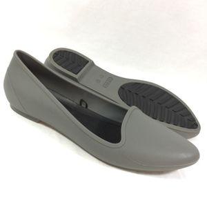 Crocs- Gray Pointed Flats